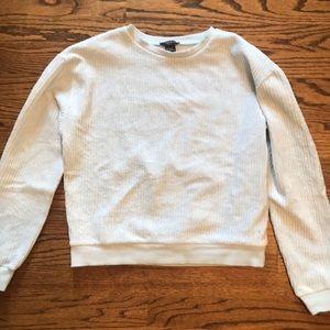 FOREVER 21 light blue chenille sweater